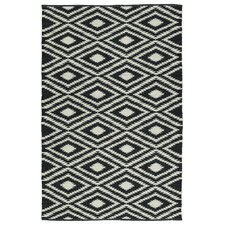 Brisa Black & White Indoor/Outdoor Area Rug