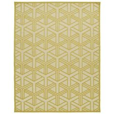 A Breath of Fresh Air Gold Indoor/Outdoor Area Rug