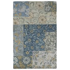 Calais Autumn Leaves Blue Area Rug