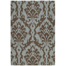 Habitat 21 Sea Spray Mocha Floral Indoor/Outdoor Area Rug