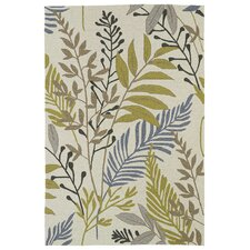Home and Porch Sand Floral Indoor/Outdoor Area Rug