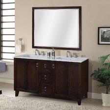 """IN 32 Series 60"""" Double Sink Bathroom Vanity Set"""