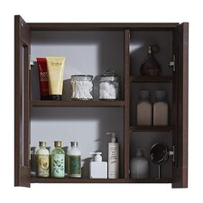 """17.7"""" Medicine Cabinet in Brown Elm Wood Texture Finish"""