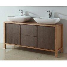 "59"" Double Bathroom Vanity Set"