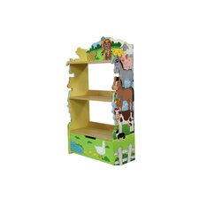 107,95 cm Kinder-Bücherregal Happy Farm
