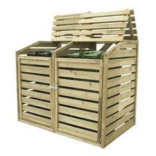 Wooden Double Bin Store