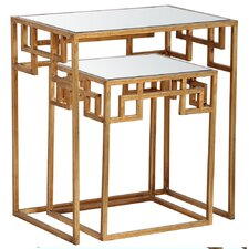 Hide and Greek 2 Piece Nesting Tables