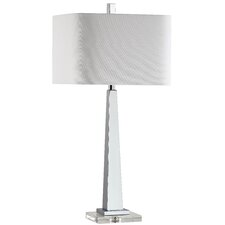 "Modern 32"" H Table Lamp with Rectangular Shade"