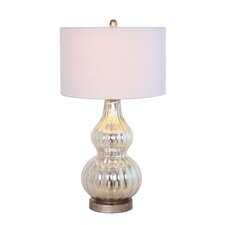 """Gourd 28"""" H Table Lamp with Drum Shade"""