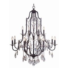 Adorned 12 Light Crystal Chandelier