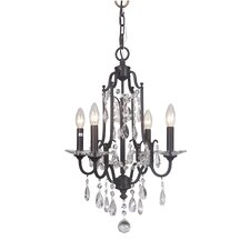 Adorned 4 Light Crystal Chandelier