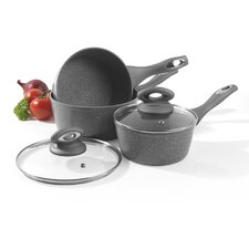 Marble 3-Piece Saucepan Set with Lids
