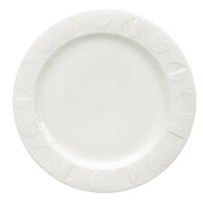 Embossed White Dinner Plates (Set of 6)