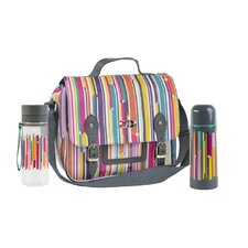Linear Insulated Satchel and Hydration Bottle Set