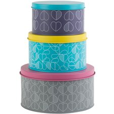 Confetti Outline Set of 3 Round Nesting Tins