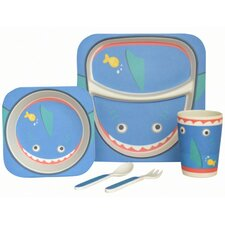 Shark Bamboo 5 Piece Dinnerware Set