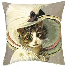 Kissenbezug Katze Belle Epoque mit Perlenkette
