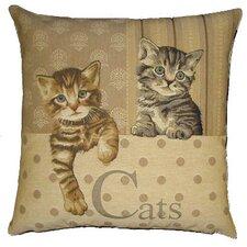 Sofakissen Braun & Grau getigerte Katzen