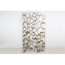 180cm x 120cm Linen 3 Panel Room Divider