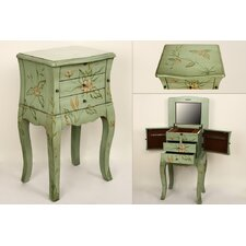 MDF Jewelry Armoire with Mirror