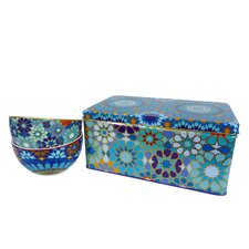 Moucharabieh 3-Piece Tin Box and Bowl Set