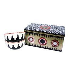 3-Piece Tin Box and Bowl Set