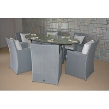 Wonderland 7 Piece Dining Set with Cushions