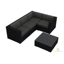 Urbana 5 Piece Deep Seating Group with Cushion