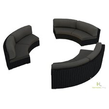 Urbana 3 Piece Eclipse Deep Seating Group with Cushion