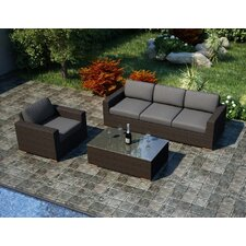 Arden 3 Piece Sofa Set with Cushions