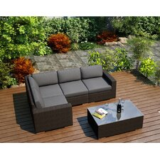 Arden 5 Piece Lounge Seating Group with Cushion