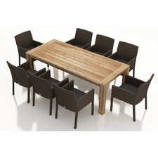Arden 9 Piece Dining Set with Cushions