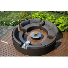 Arden 7 Piece Curved Deep Seating Group with Cushions