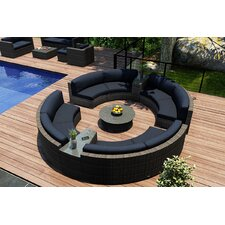 District 7 Piece Curved Deep Seating Group with Cushions