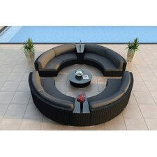 Urbana 7 Piece Curved Deep Seating Group with Cushions