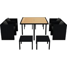 Arbor 9 Piece Cube Dining Set with Cushion
