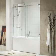 "Trident 62"" x 56 - 60"" Frameless Sliding Tub Door"