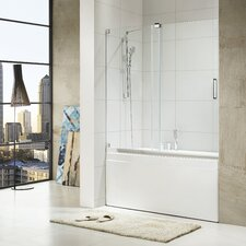 "Oasis 58"" x 56 - 60"" Frameless Sliding Chrome Tub Door"