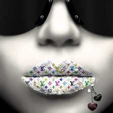 Limited Edition 'Fashioinista Kiss Me Silver' by Jean Raphael Graphic Art