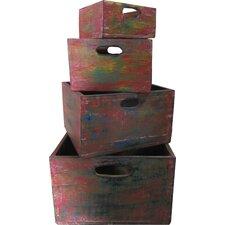 4 Piece Wooden Nesting Box Set