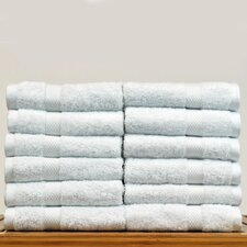 Luxury Hotel and Spa Turkish Cotton Bamboo Rayon Wash Cloth (Set of 12)
