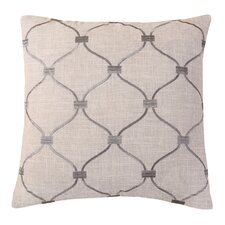 Embroidered Trellis Throw Pillow