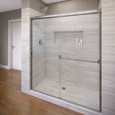 "Classic 70"" x 60"" Frameless Bypass Sliding Shower Door"