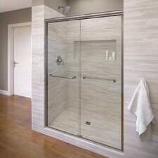"Infinity 70"" x 47"" Frameless Bypass Sliding Shower Door"