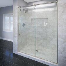 """Rolaire 76"""" x 59"""" Rolling Door with Fixed Panel Shower Door"""
