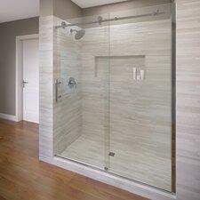 """Vinesse 76"""" x 59"""" Rolling Door with Fixed Panel Shower Door"""
