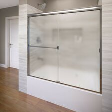 "Classic 57"" x 60"" Frameless Bypass Sliding Tub Door"