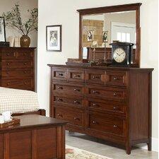 Beacon Street 10 Drawer Dresser with Mirror