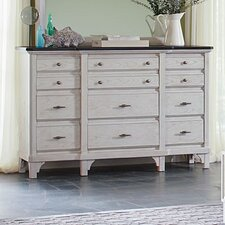 Mystic Cay 12 Drawer Dresser with Mirror