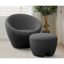 Memory Foam Lounge Chair with Ottoman
